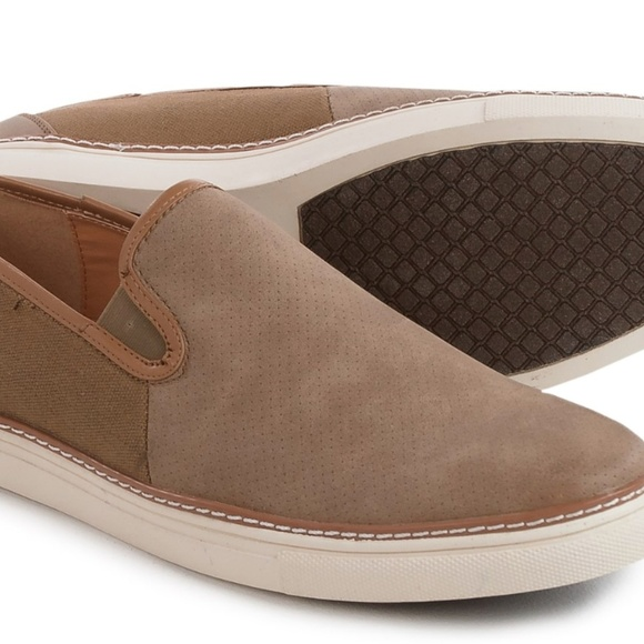 New Van Heusen Mens Shoes Size 10 Slip Ons Taupe c49bb4dc7